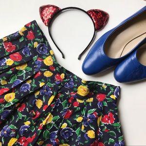 Vintage Brooks Brothers Floral Pleated Skirt